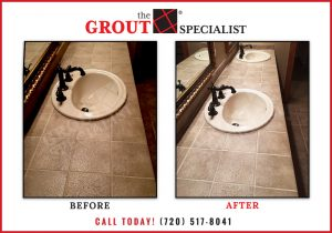 The Grout Specialist before and after grout cleaning