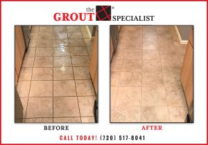 before & after tile cleaning
